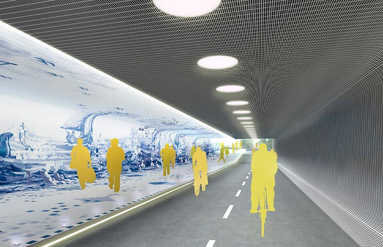 Amsterdam Central Station, foot tunnel
