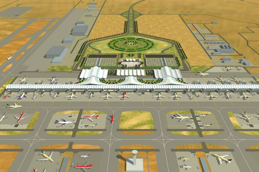 King Abdulaziz airport in Saudi Arabia