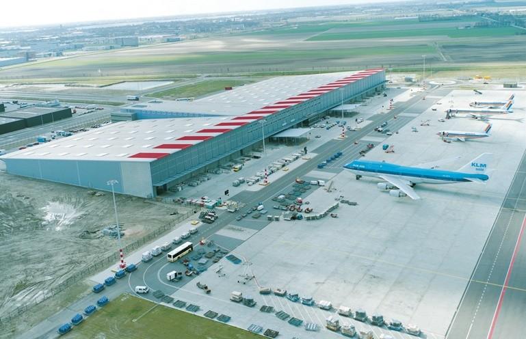 Schiphol Airport cargo facilities.
