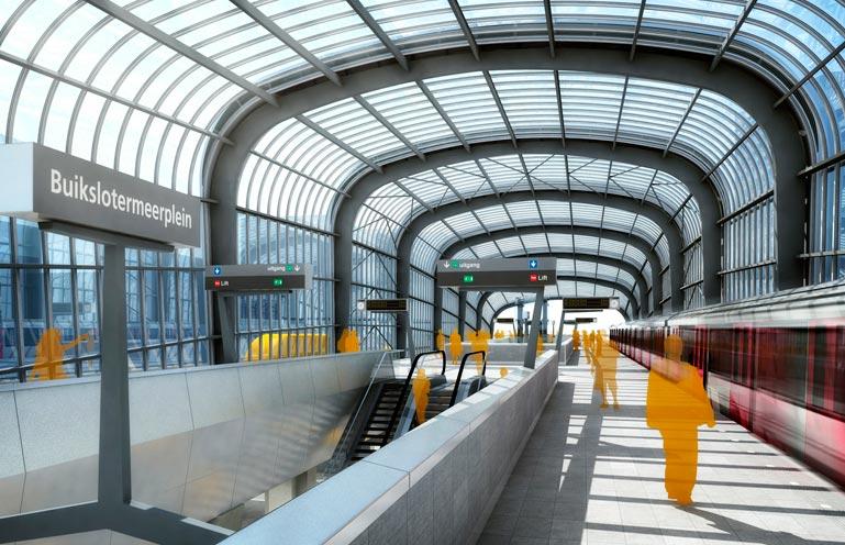 Noord Zuid lijn Amsterdam