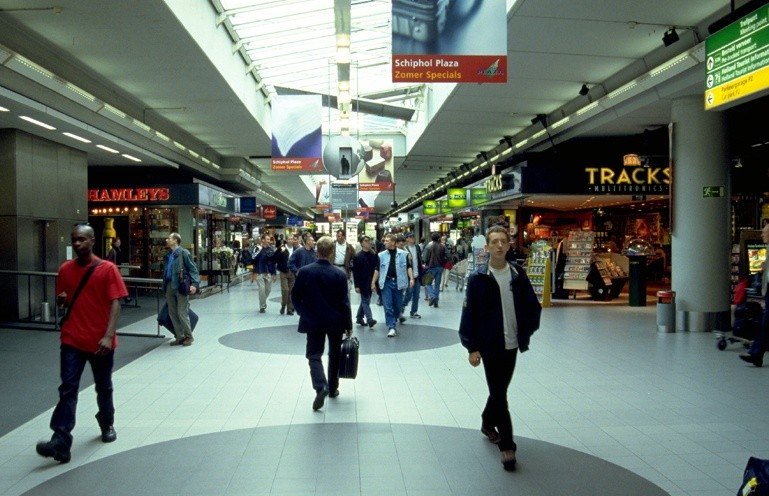 Schiphol Airport  plaza shopping area