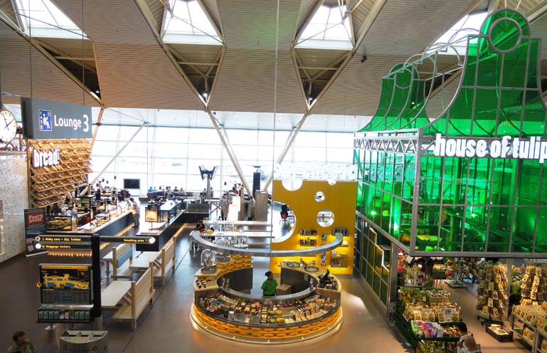 Schiphol Airport new lounge